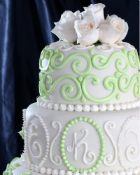 cheap wedding cake ideas - smaller cake