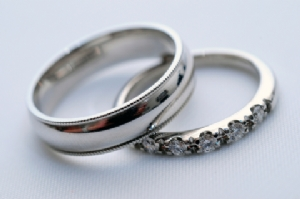 Affordable Wedding Rings, white