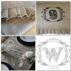 diy wedding burlap table runners