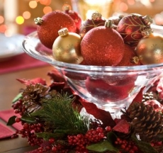ideas for cheap wedding centerpieces - christmas