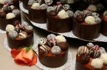 unusual wedding cakes - chocolate truffles