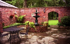 wedding reception places - courtyard