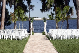 wedding reception places - lake