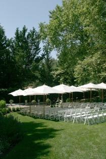 wedding reception places - outdoor