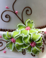 cake with icing flowers