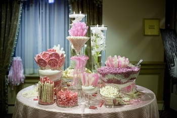 wedding candy buffet containers