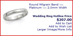 cheap platinum wedding rings