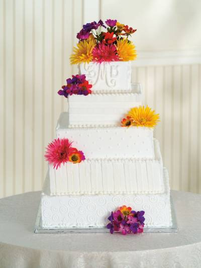 Where do you usually get wedding cakes from Bakeries