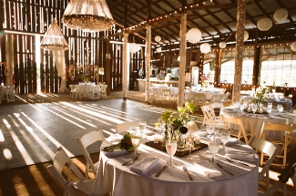 cheap wedding reception ideas - barn