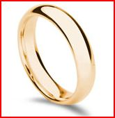 cheap wedding rings for men  - yellow gold at mondera