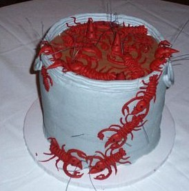 cheap wedding cake idea = groom's cake