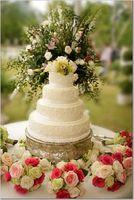 simple wedding cakes - flowers