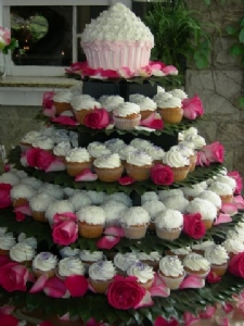 unusual wedding cakes - cupcake wedding cakes from Little Cake Bakery