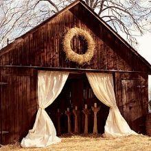 wedding reception places - barn